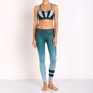 Alo ombré airbrush double stripe legging